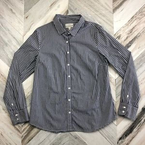 J.Crew Stretch Perfect Gingham Button Down Large